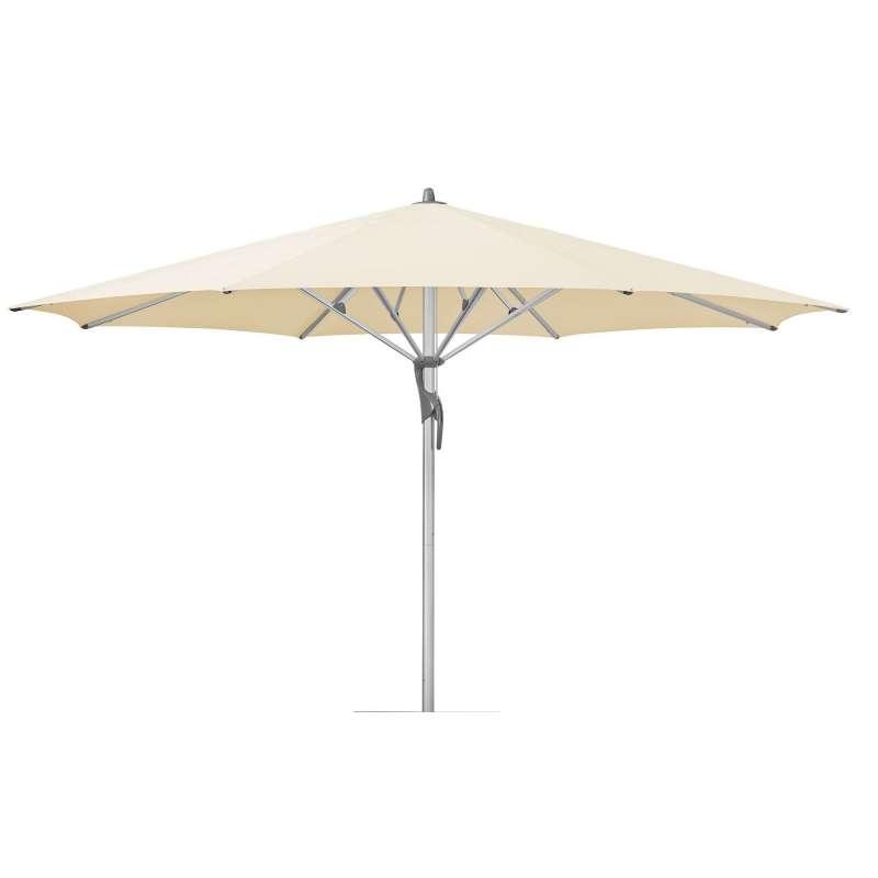 GLATZ Sonnenschirm FORTELLO® LED easy ø 450 cm Stoffklasse 2 Eggshell 150
