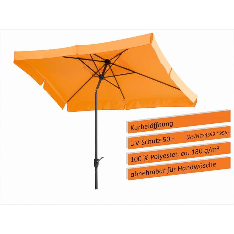 Schneider Schirme New York Sonnenschirm 270 x 150 cm Sonnenschutz mandarine Schirm