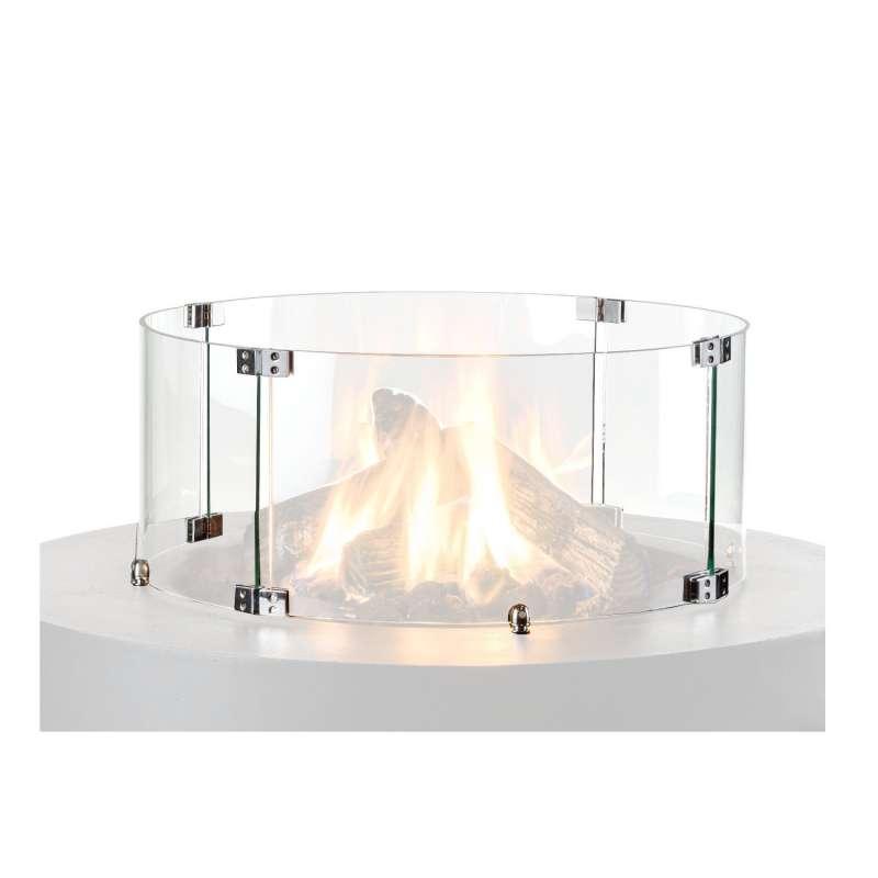 Happy Cocooning Mania Glasschirm für Feuertische rund 54x21 cm Glasumrandung