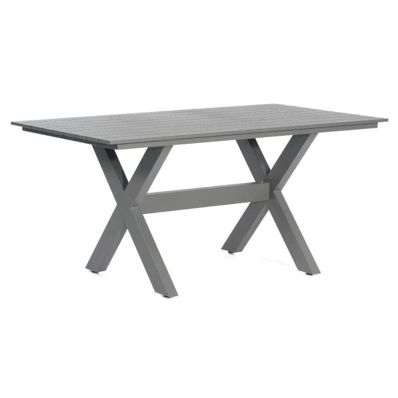 SunnySmart Gartentisch Topas Aluminium anthrazit Tisch 160x90 cm