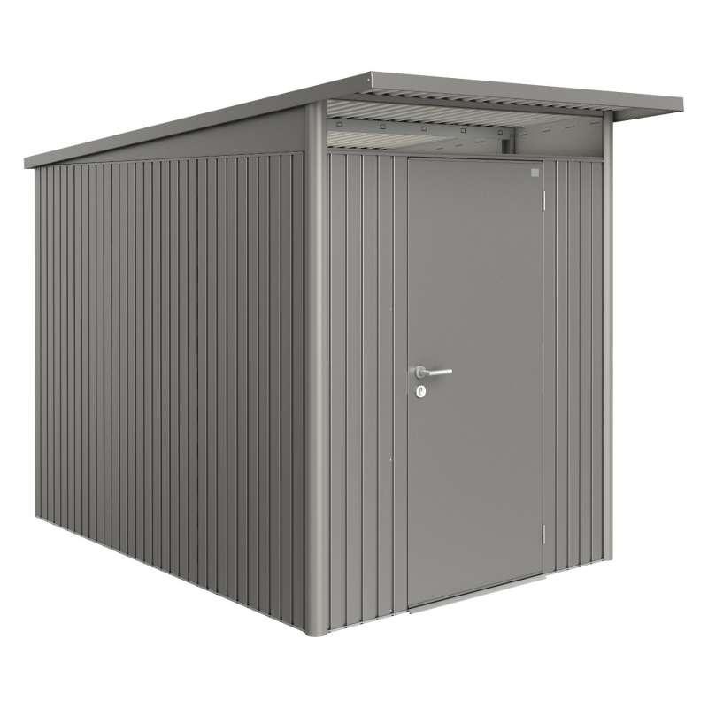 Biohort Gartenhaus AvantGarde® mit Standardtür quarzgrau-metallic 8 verschiedenen Größen Gerätehaus