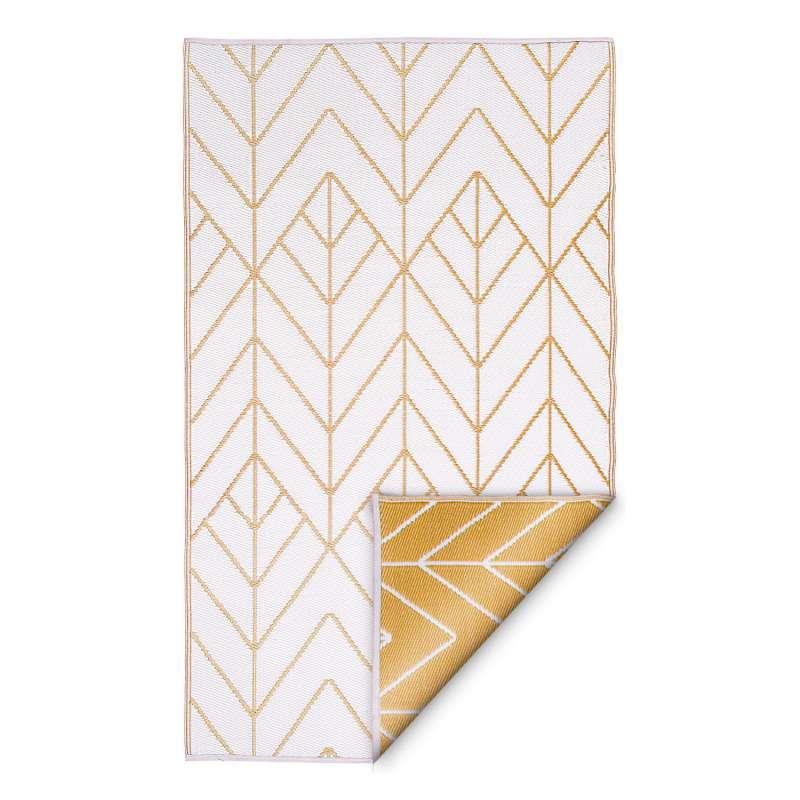 Fab Hab Outdoorteppich Sydney Gold&Cream aus recyceltem Plastik creme/gold 180x270 cm
