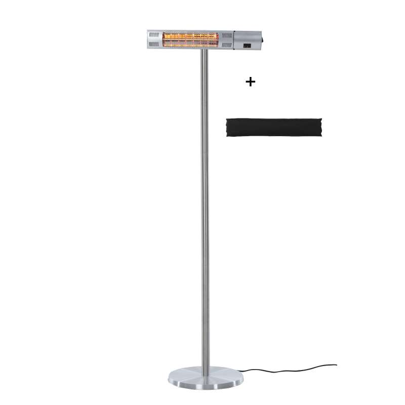 OutTrade Sunred Heater Royal Diamond Silver Standing 2000 W mit Hülle