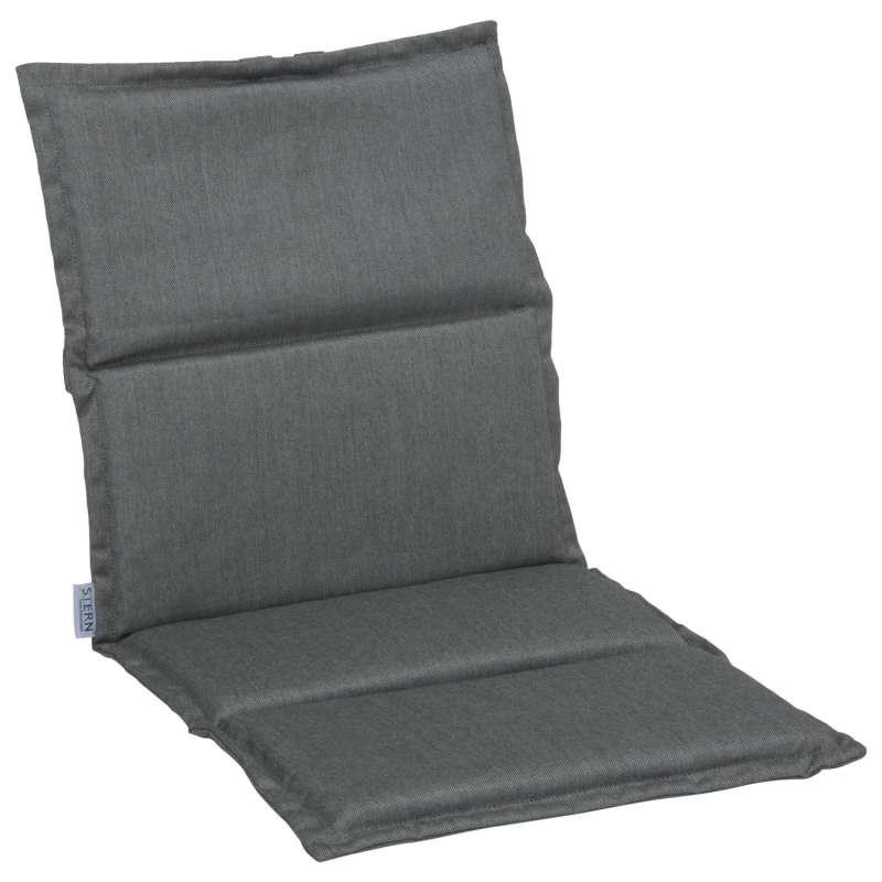 Stern Auflage für Stapelsessel Outdoorstoff seidengrau uni 93x46 cm Universalauflage Sitzkissen