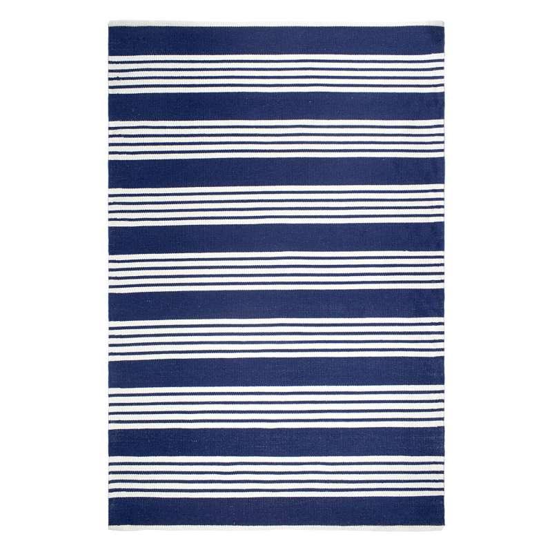 Fab Hab Outdoorteppich Mariona Stripe Blue&White aus recycelten PET-Flaschen blau/weiß 180x270 cm