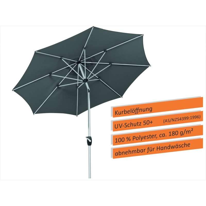 Schneider Schirme Venedig Mittelmastschirm ø 270 cm anthrazit Mittelstockschirm Balkon