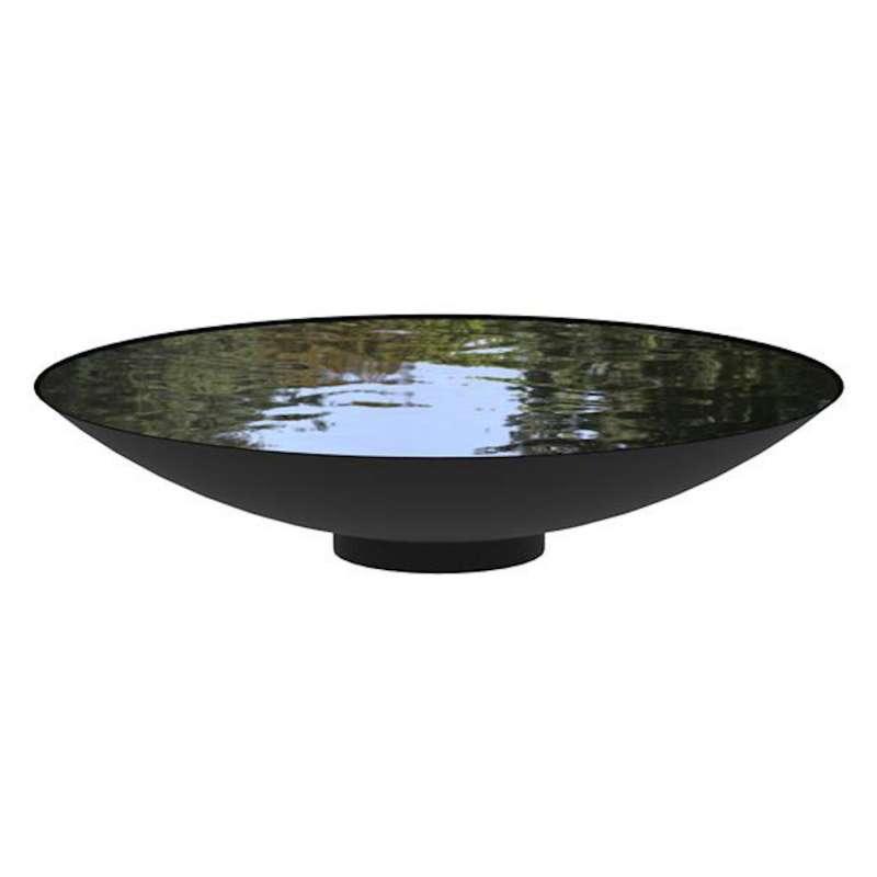 Adezz Wasserschale rund beschichteter Stahl dunkelgrau Wasserspiel verschiedene Größen