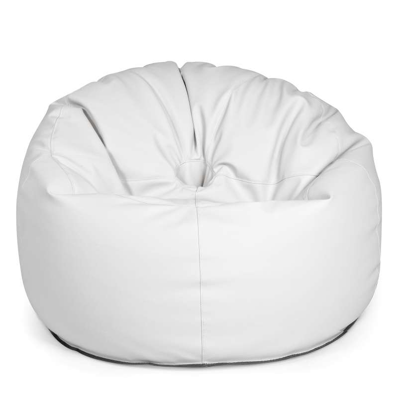 Outbag Donut Light weiß Sitzsack Outdoorkissen 90 x 75 cm Outdoorliege Hocker