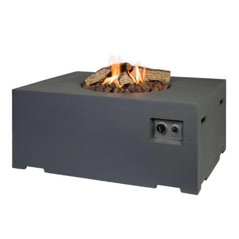 Happy Cocooning Mania Feuertisch 19,5 kW rechteckig groß 107x80x46 cm Beton-Optik grau