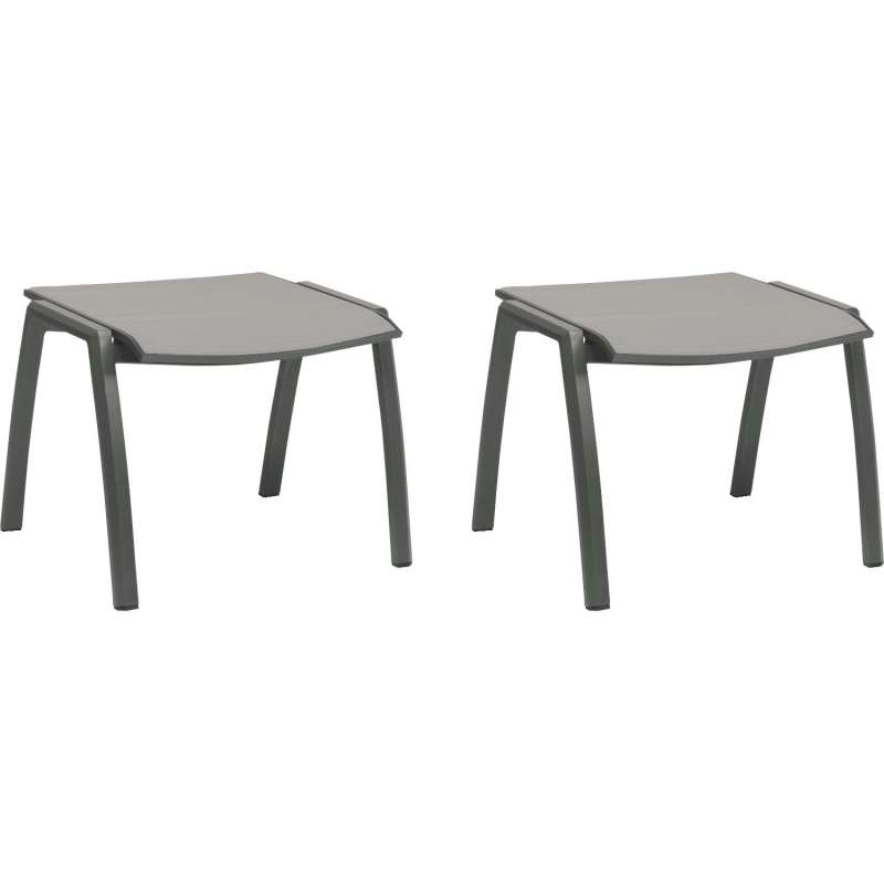 Stern 2er-Set Fußhocker Kari Aluminium anthrazit/Textilen silber Hocker Sitzhocker