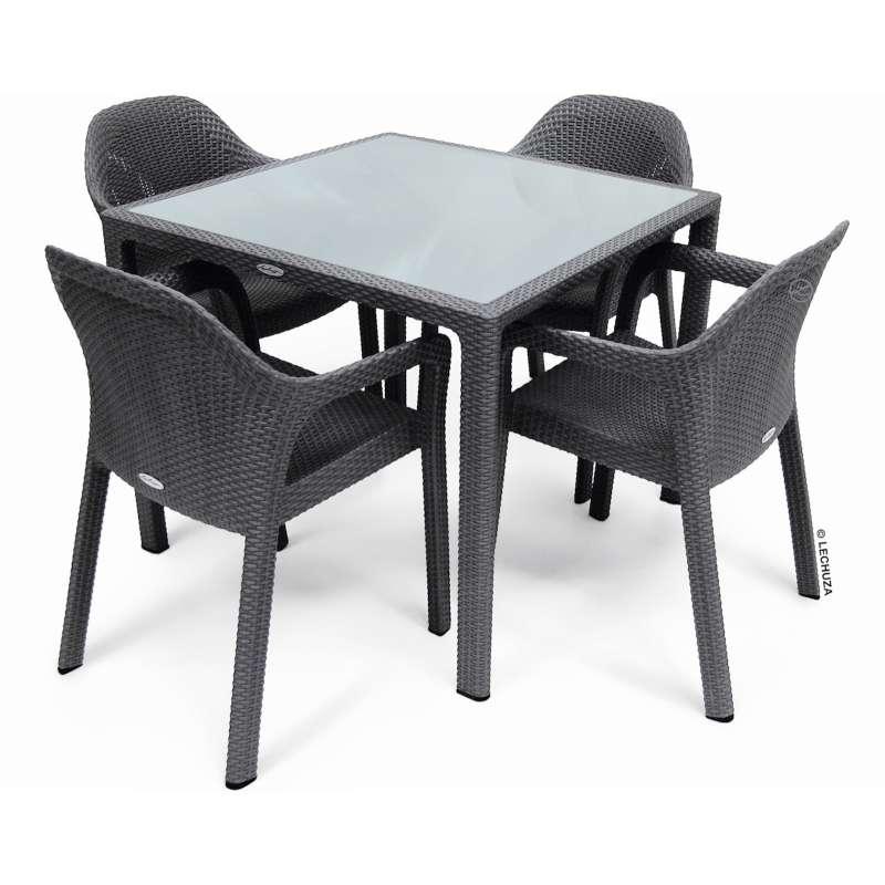 Inkl4 Cm Sitzgruppe Set X Granit Stühle Esstisch Gartentisch Lechuza 90 thsCrxQd