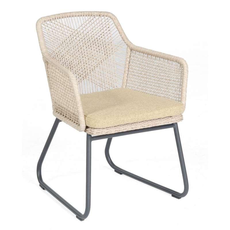 Sonnenpartner Garten-Sessel Couture Aluminium mit Polyrattan white-shell Gartenstuhl