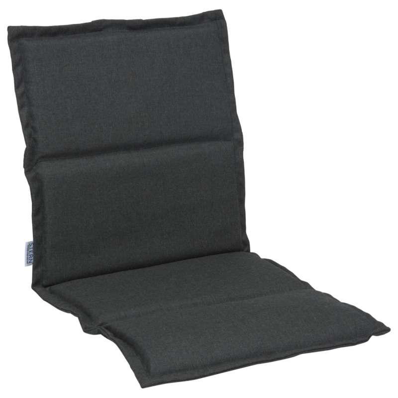 Stern Auflage für Stapelsessel Outdoorstoff schiefergrau uni 93x46 cm Universalauflage Sitzkissen