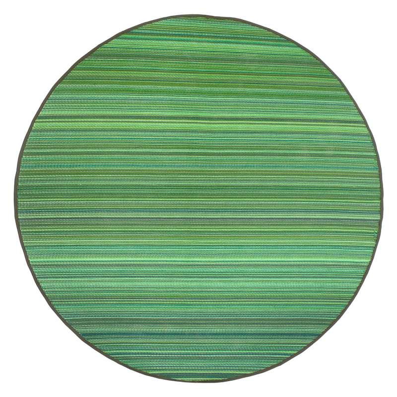 Fab Hab Outdoorteppich Cancun Green aus recyceltem Plastik grün rund Ø 240 cm