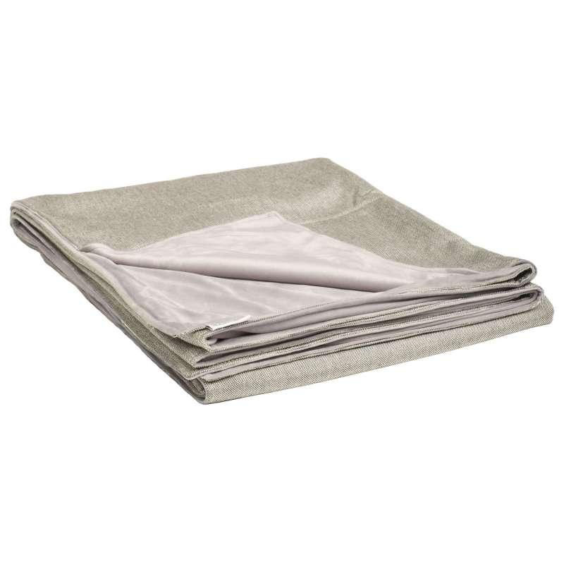 Stern Decke 158x200 cm Outdoorstoff graubraun/Fleece hellgrau Kuscheldecke