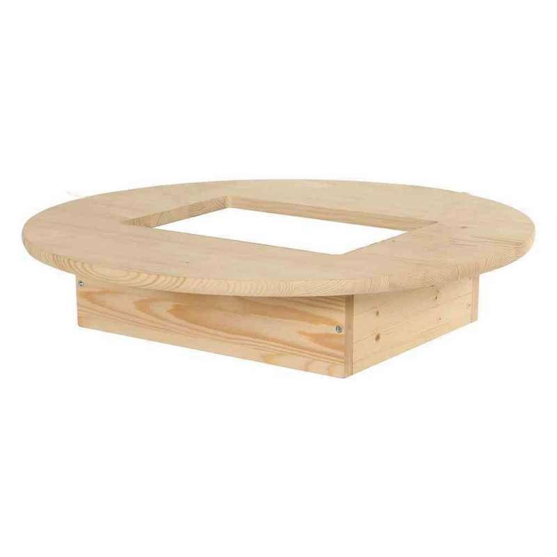 Siena Garden Tischaufsatz für Bierkasten Ø 69x14,5 cm Holz Kiefer natur
