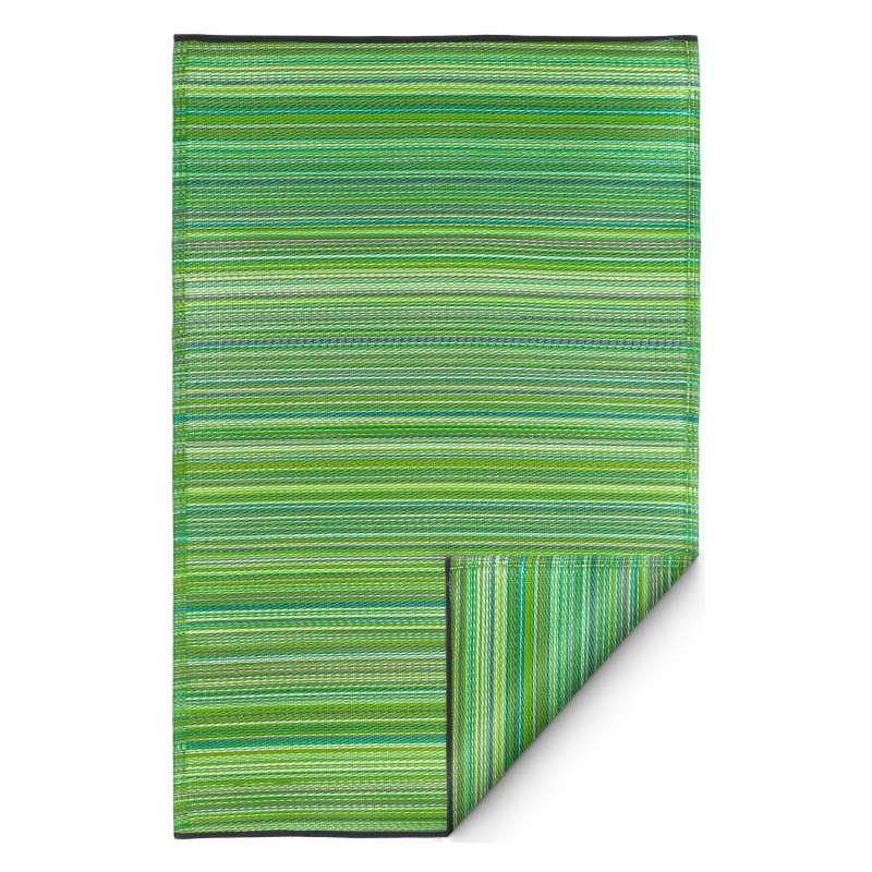 Fab Hab Outdoorteppich Cancun Green aus recyceltem Plastik grün 120x180 cm