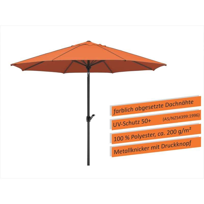 Schneider Schirme Adria Mittelmastschirm ø 300 oder ø 350 cm terracotta Sonnenschirm