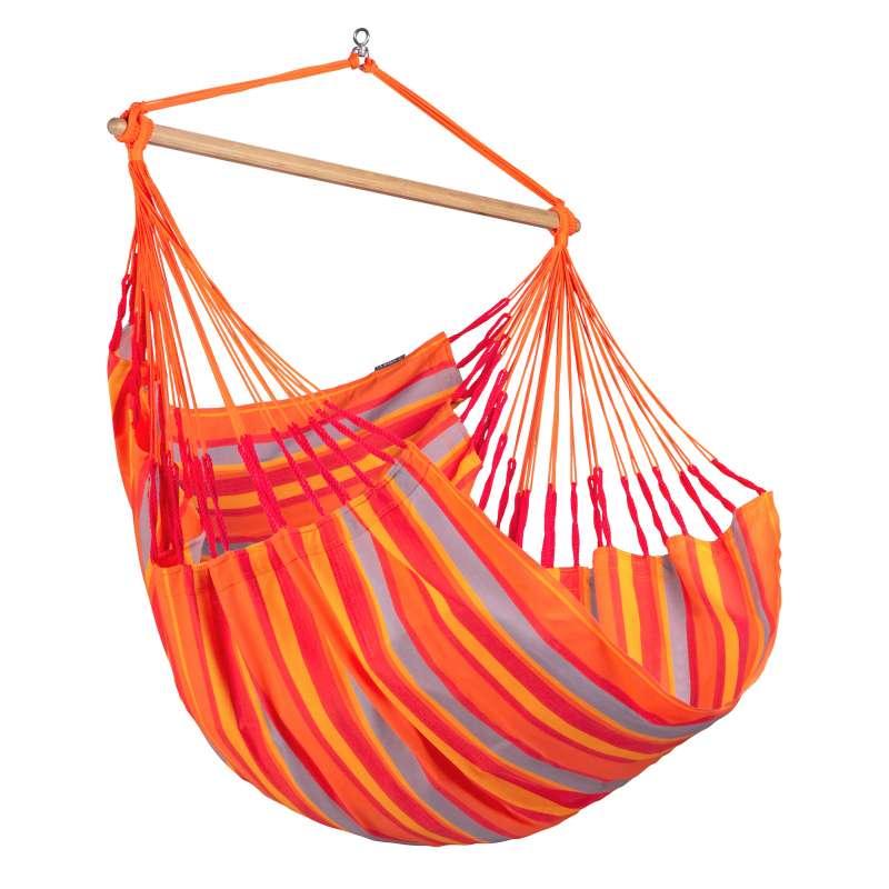 La Siesta Hängestuhl DOMINGO Comfort toucan orange Lounger DOL18-28 optional mit Gestell
