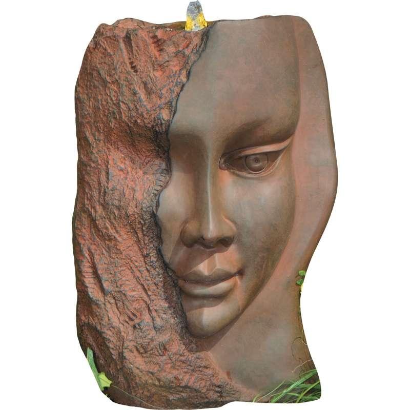 Granimex Diana Brunnen Zierbrunnen 50 x 35 x 21 cm Springbrunnen LED 58 Antik-Rost Design