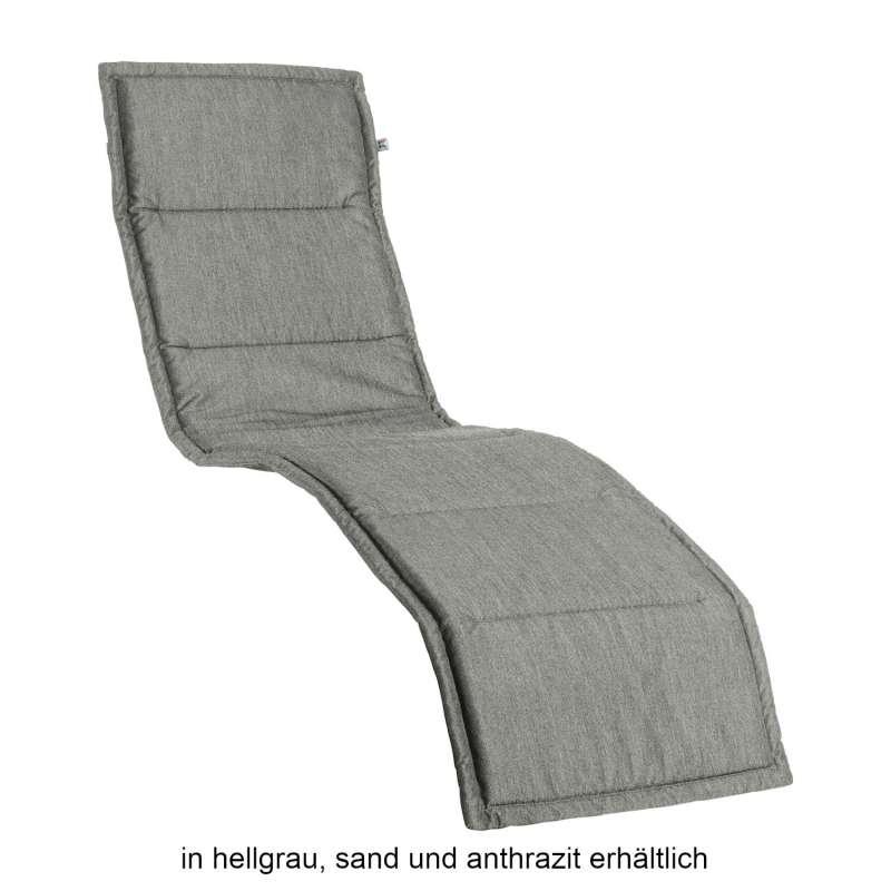 Kettler SMELL Auflage für Bäderliege Tampa Liegenauflage Dralon 205x55x3 cm sand/anthrazit/grau