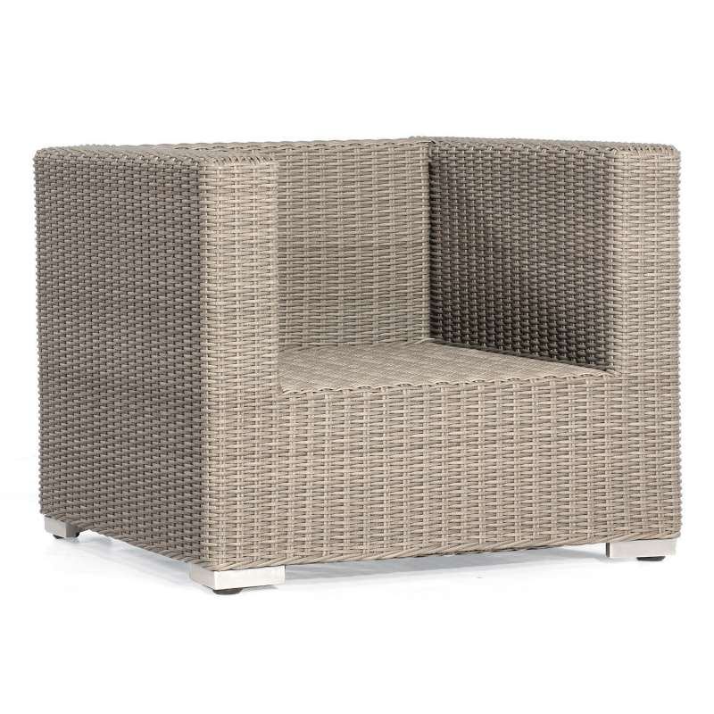 Sonnenpartner Lounge-Sessel Residence Aluminium mit Polyrattan stone-grey inklusive Kissen Loungeses