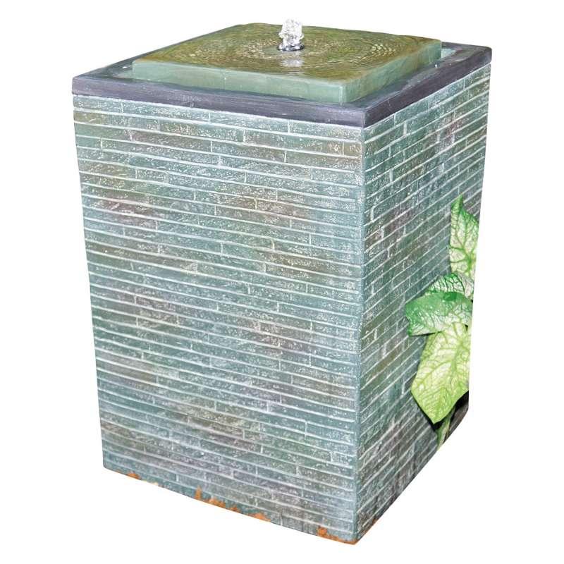 Granimex Kodai Polystone Wassersäule mit Pumpe und LED-Beleuchtung Wasserspiel 55x36x36 cm