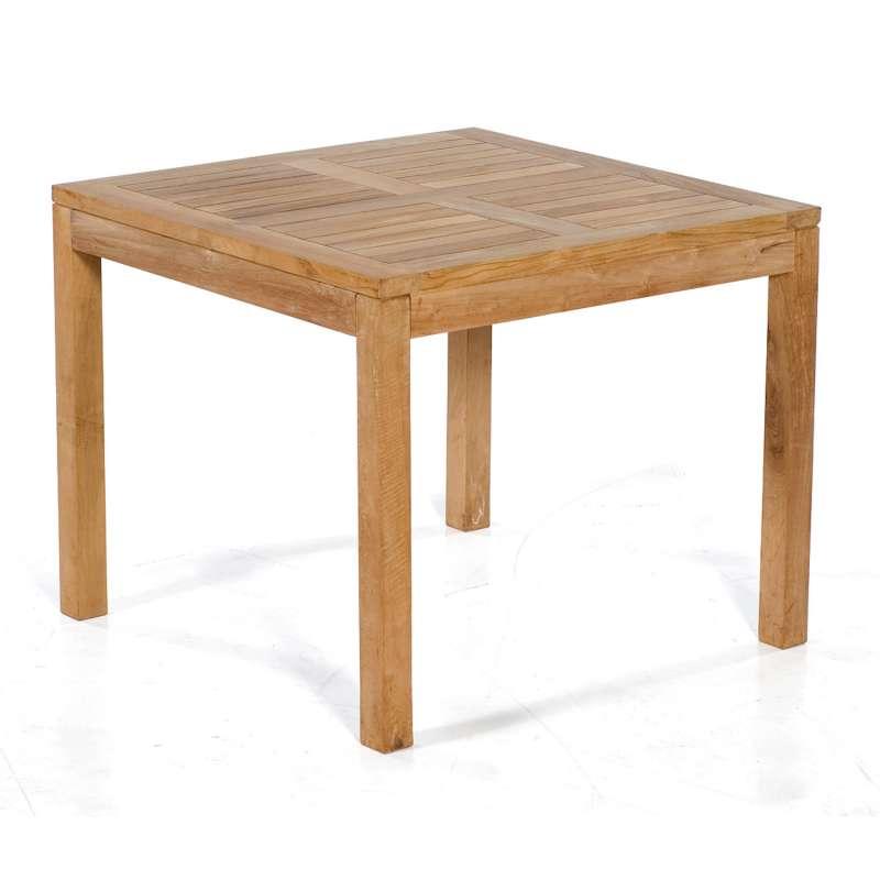 SunnySmart Teakholz-Gartentisch Wellington natur Tisch 90x90 cm